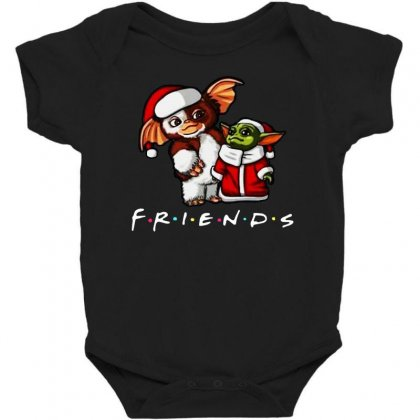 Baby Yoda And Baby Gizmo Santa Friends Christmas 2020 Funny Baby Bodysuit