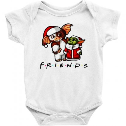 Baby Yoda And Baby Gizmo Santa Friends Christmas 2020 Baby Bodysuit