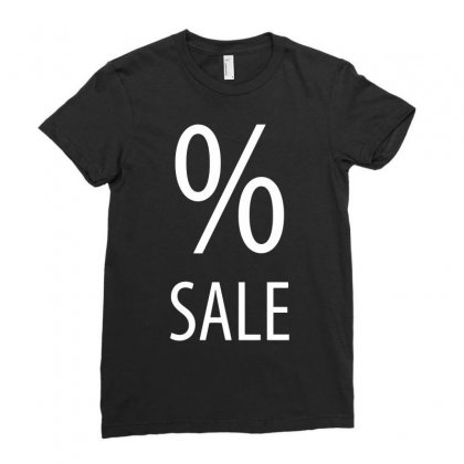 Sale Per Cent Funny Ladies Fitted T-shirt Designed By Candrashop