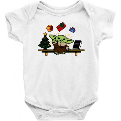 Baby On The Shelf Baby Yoda Baby Bodysuit
