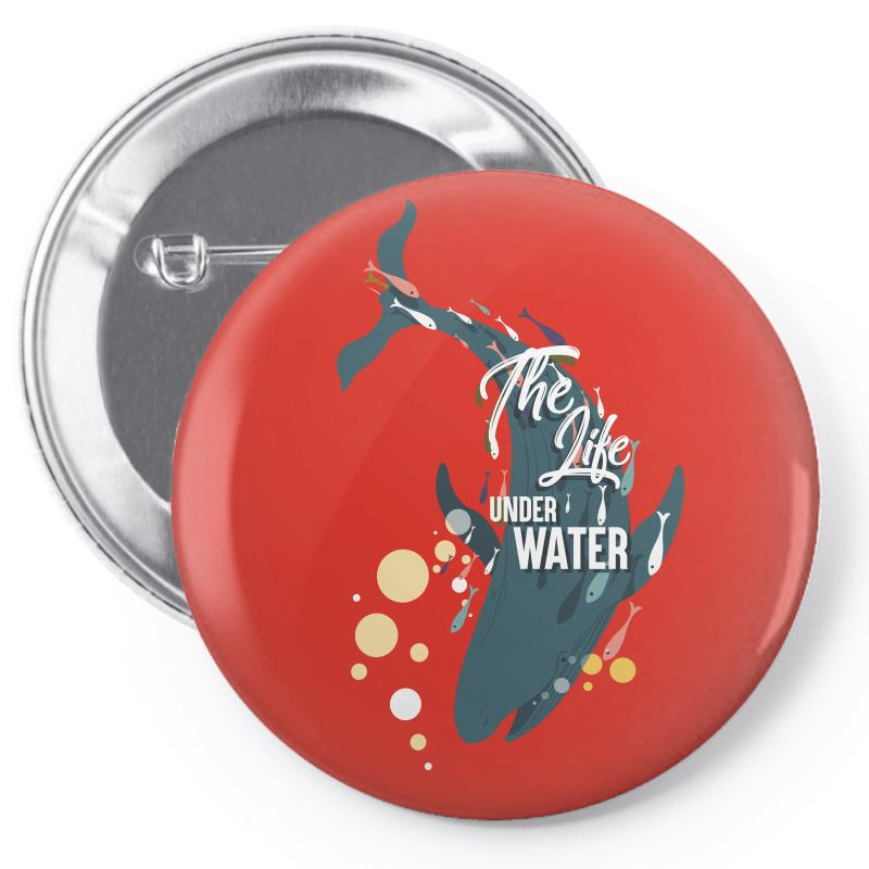 The Life Under Water Pin-back Button   Artistshot