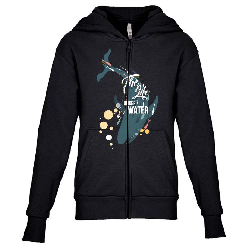 The Life Under Water Youth Zipper Hoodie | Artistshot