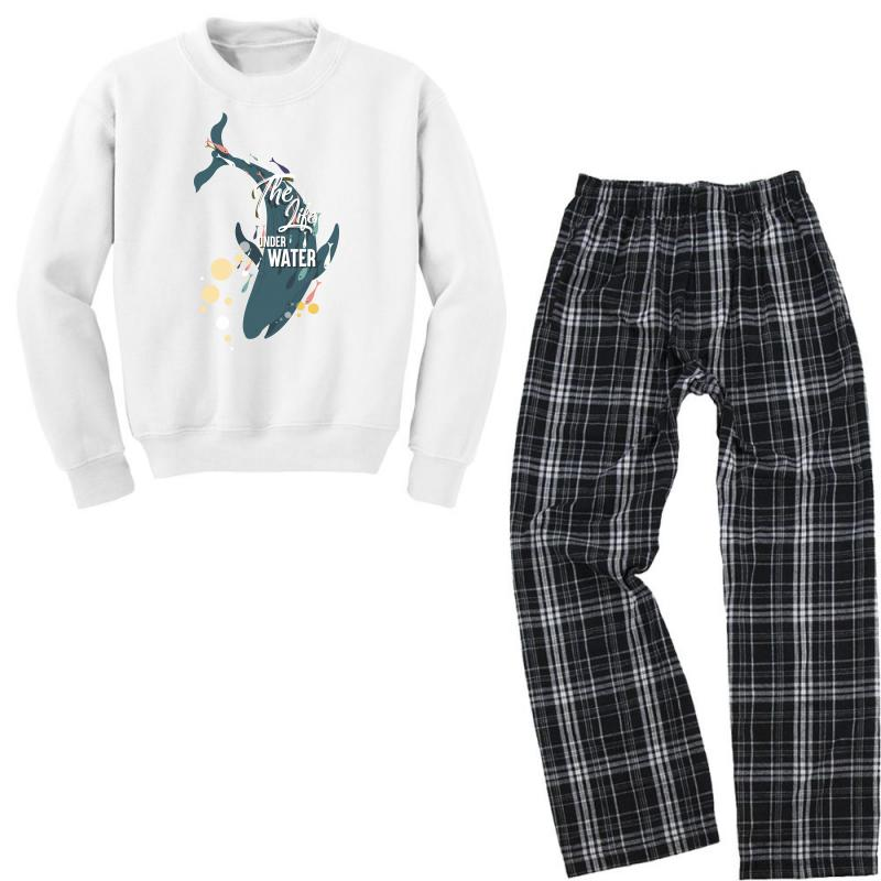 The Life Under Water Youth Sweatshirt Pajama Set | Artistshot