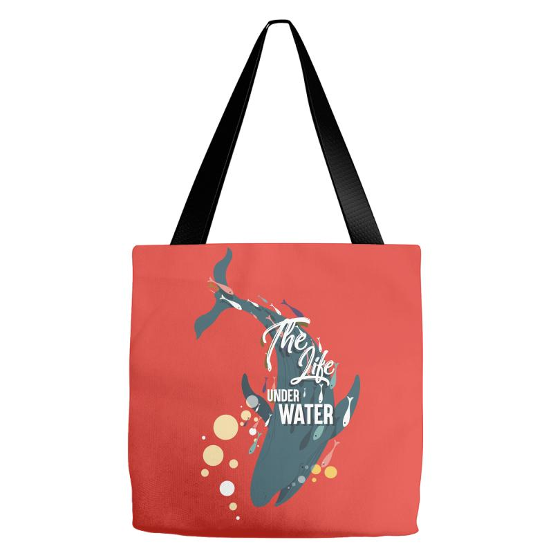 The Life Under Water Tote Bags | Artistshot