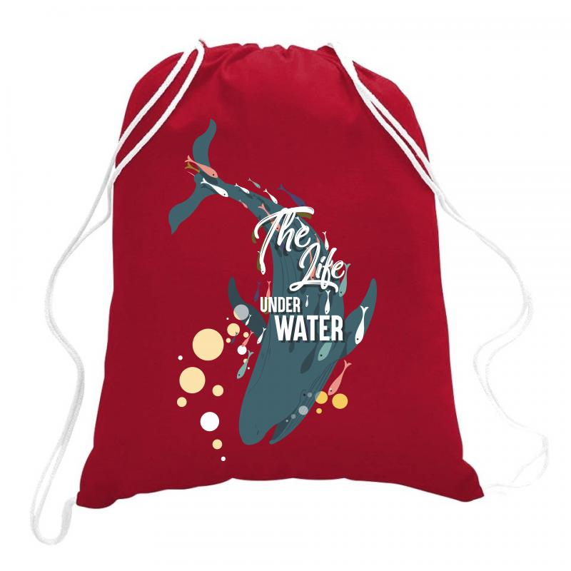 The Life Under Water Drawstring Bags | Artistshot