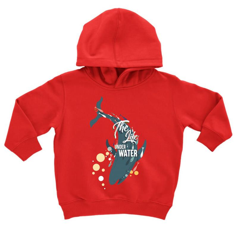 The Life Under Water Toddler Hoodie | Artistshot