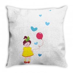 Little girl Throw Pillow | Artistshot