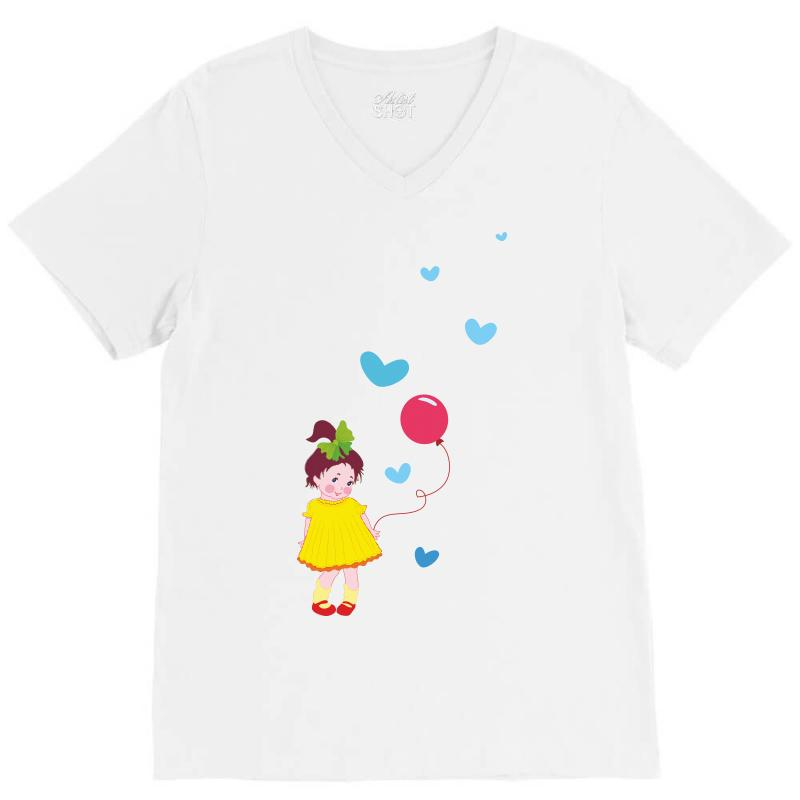 Little Girl V-neck Tee | Artistshot