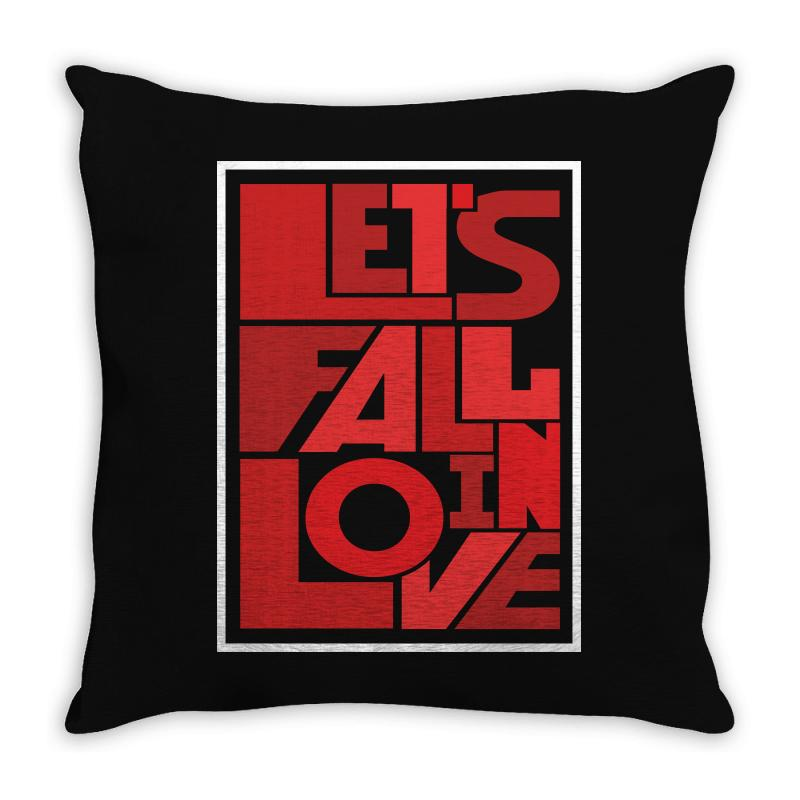 Let's Fall In Love Throw Pillow | Artistshot