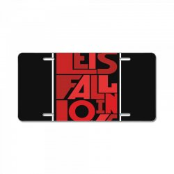 Let's fall in love License Plate | Artistshot