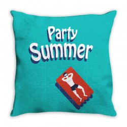 Party summer Throw Pillow | Artistshot