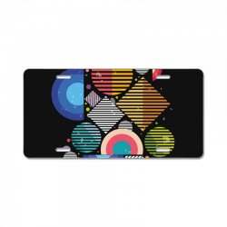 Geometric shapes License Plate | Artistshot