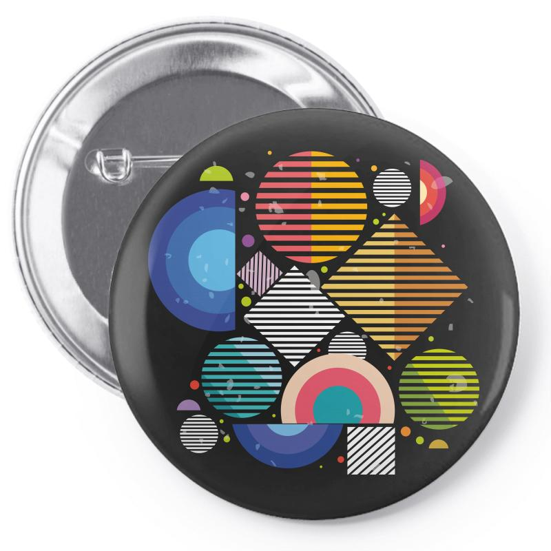 Geometric Shapes Pin-back Button | Artistshot