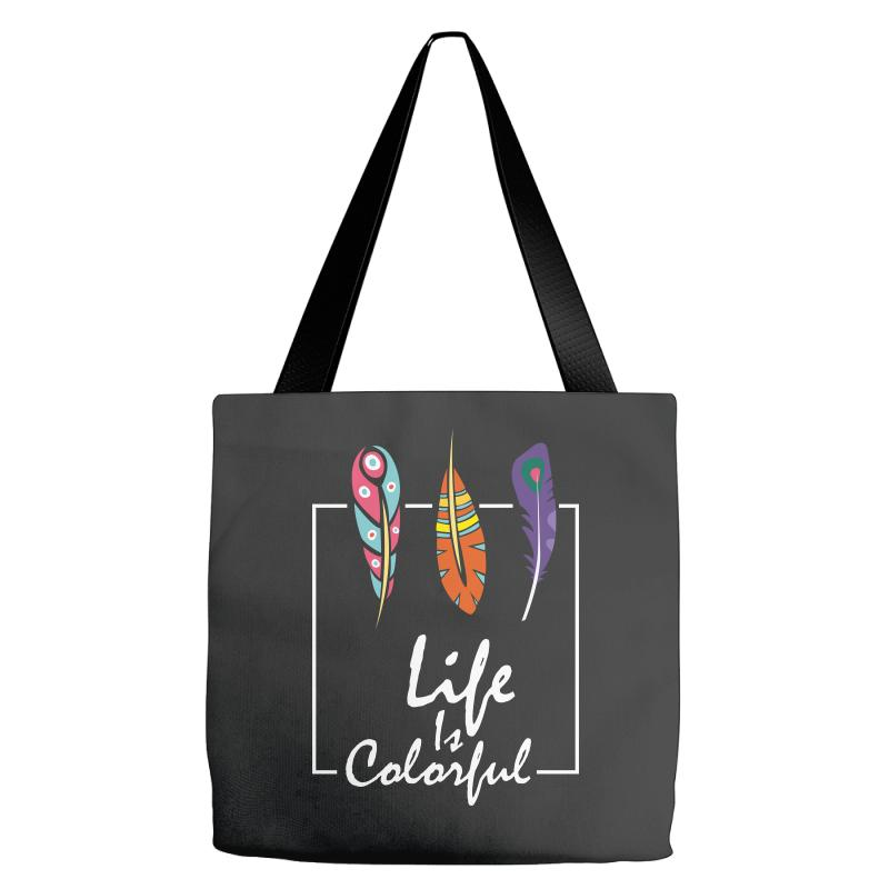 Life Is Colorful Tote Bags | Artistshot