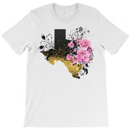 Texas Map T-shirt Designed By Omer Acar
