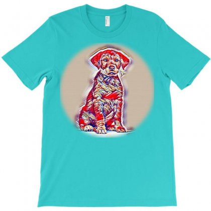 Jack Russell Dog With Owner A Go For A Walk T-shirt Designed By Kemnabi