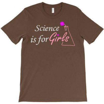 Secience Is For Girls Flower T-shirt Designed By Starlight