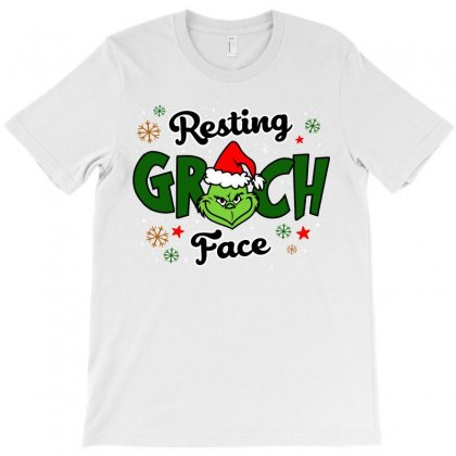 Resting Grinch Face Christmas Gift T-shirt Designed By Ursulart