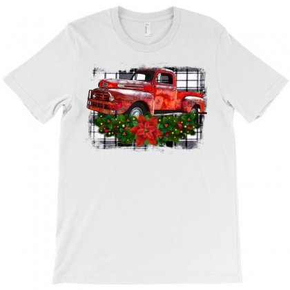 Vintage Christmas Red Truck Christmas Gift T-shirt Designed By Ursulart