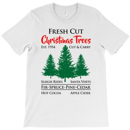 Fresh Cut Christmas Trees Est 1954 T-shirt Designed By Ursulart