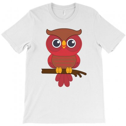 Red Owl T-shirt Designed By Emardesign