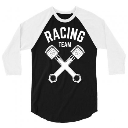 Racing Team 3/4 Sleeve Shirt Designed By Candrashop