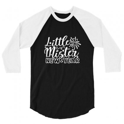 New Year Little Mister New Year New Years Eve 3/4 Sleeve Shirt Designed By Arsa
