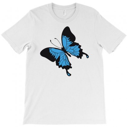 Blue Butterfly T-shirt Designed By Candrashop