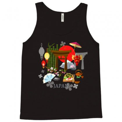 Culture Of Japan Tradition Illustration Background Tank Top Designed By Salmanaz