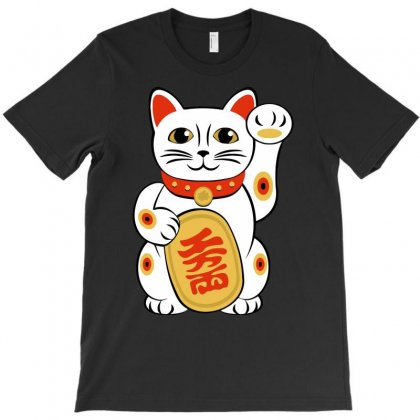 Chinese Lucky Cat Funny T-shirt Designed By Candrashop