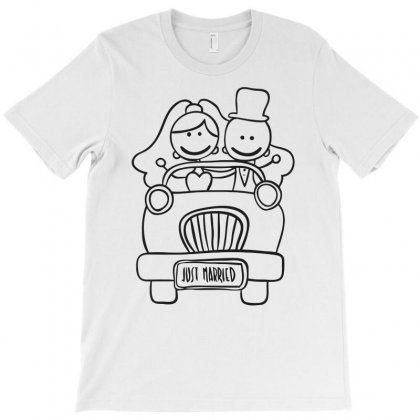 Just Married Funny T-shirt Designed By Candrashop
