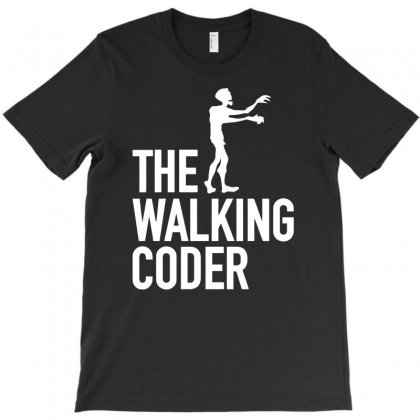The Walking Coder Funny T-shirt Designed By Candrashop