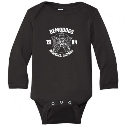 Adopt A Demodog Merch Long Sleeve Baby Bodysuit Designed By Oktaviany