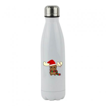 Adorable Reindeer Stainless Steel Water Bottle Designed By Oktaviany