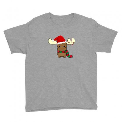 Adorable Reindeer Youth Tee Designed By Oktaviany
