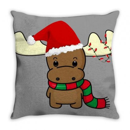 Adorable Reindeer Throw Pillow Designed By Oktaviany