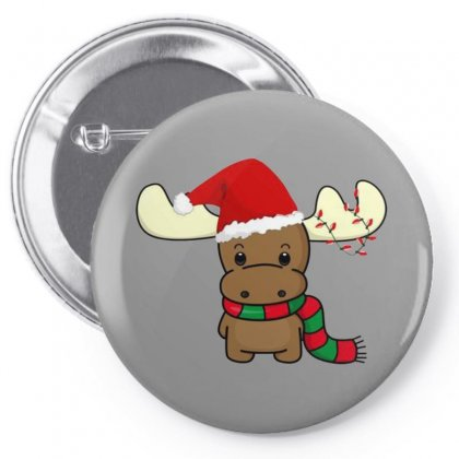Adorable Reindeer Pin-back Button Designed By Oktaviany