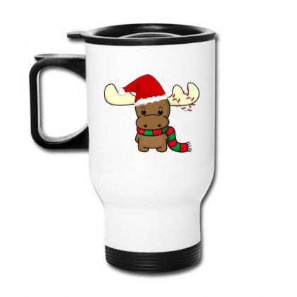 Adorable Reindeer Travel Mug Designed By Oktaviany