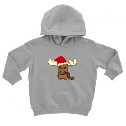 Adorable Reindeer Toddler Hoodie Designed By Oktaviany