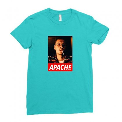 Apache Rapper Ladies Fitted T-shirt Designed By Oktaviany
