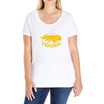 Chocobo Final Fantasy Ladies Curvy T-shirt Designed By Oktaviany