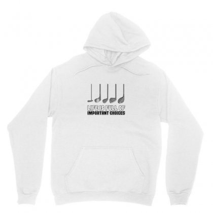 Choices Golf Unisex Hoodie Designed By Oktaviany