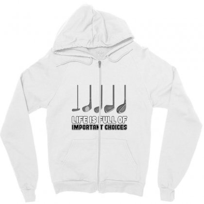 Choices Golf Zipper Hoodie Designed By Oktaviany