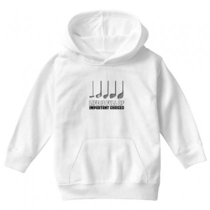 Choices Golf Youth Hoodie Designed By Oktaviany