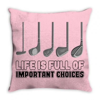 Choices Golf Throw Pillow Designed By Oktaviany