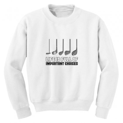 Choices Golf Youth Sweatshirt Designed By Oktaviany