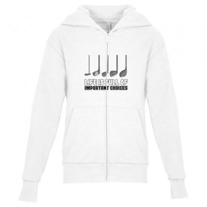 Choices Golf Youth Zipper Hoodie Designed By Oktaviany