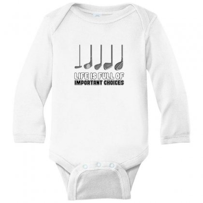 Choices Golf Long Sleeve Baby Bodysuit Designed By Oktaviany