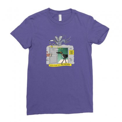 Greyhound Antlers Ladies Fitted T-shirt Designed By Oktaviany