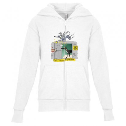 Greyhound Antlers Youth Zipper Hoodie Designed By Oktaviany